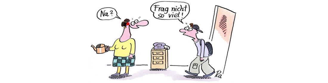 Illustration zu Erziehungsberatung, Cartoon von Renate Alf