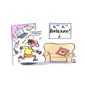 Relaxen Renate Alf Cartoon