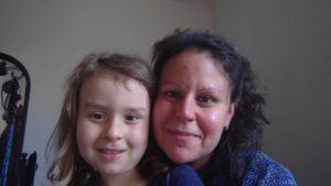 Teilnehmerin mit ihrem Kind