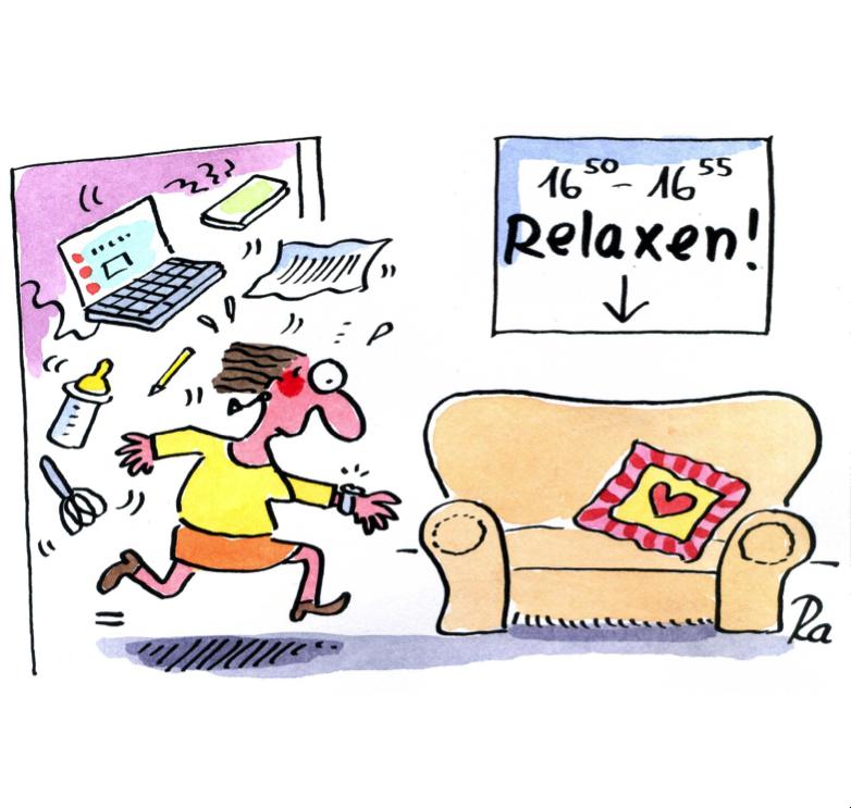 Comic zum Thema Relaxen